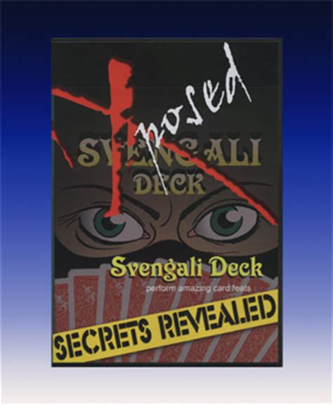 Svengali Deck Tricks Revealed by Secrets Revealed Svengali Deck Dvd At Mjm Magic