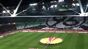 Hannover 96 vs. Madrid Choreo und Einlauf