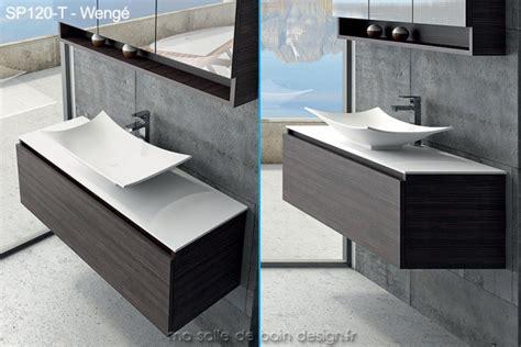 large meuble 224 tiroir de 120cm avec vasque coupelle design en solid surface