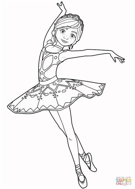 felicie milliner  ballerina  coloring page