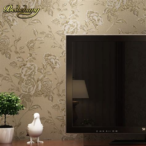 beibehang wall paper french pune cozy flower garden