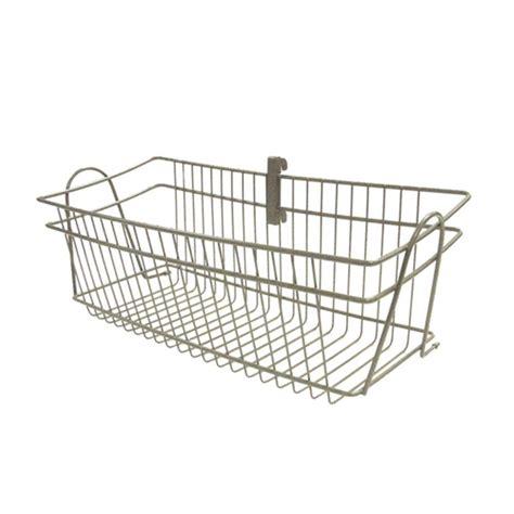 Closetmaid Wire Baskets - closetmaid shelftrack 8 in h x 20 in d nickel wire