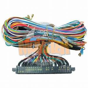 Arcade Machine Jamma Harness Wired For 6 Buttons Per