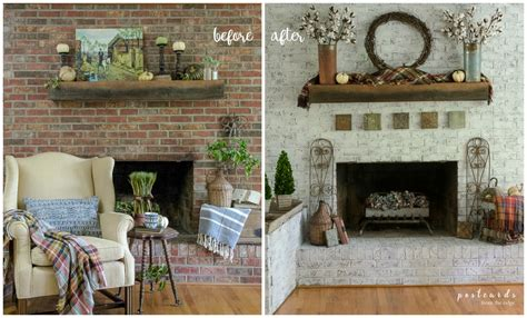 update  brick fireplace   unique paint