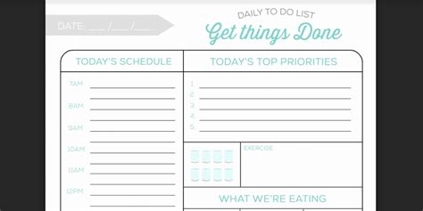 Daily To Do List Template Every To Do List Template You