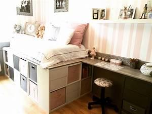 Lit Ikea Rangement : diy un lit dressing gain de place avec des rangements de fille passiparisienne ~ Teatrodelosmanantiales.com Idées de Décoration
