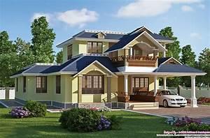 Exquisite, Sloping, Roof, Villa, Design