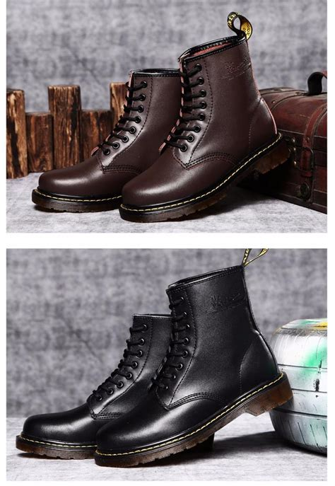 Mens Fashion Martin Boots England Style Genuine
