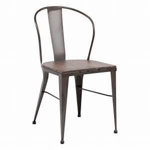 Chaise Industrielle Metal : chaise industrielle 4 pieds ~ Teatrodelosmanantiales.com Idées de Décoration