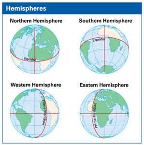 Eastern and Western Hemisphere Map