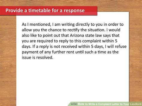 write  complaint letter   landlord  steps