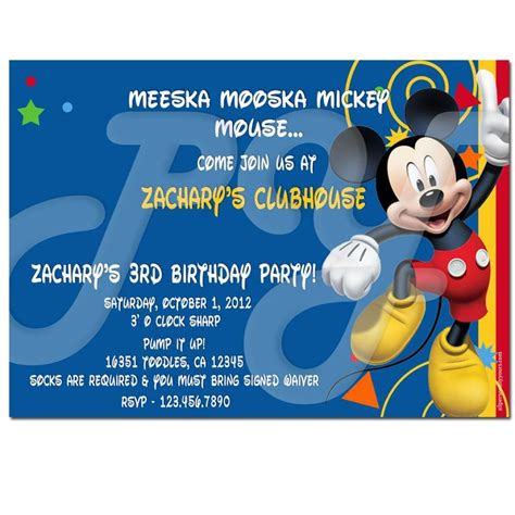 mickey mouse clubhouse invitations template free printable mickey mouse clubhouse templates search results calendar 2015