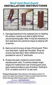 Roof Vent Boot Guard  Large  3 In  Specify Color