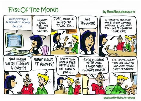 19 Best Images About First Of The Month Comic Strip From