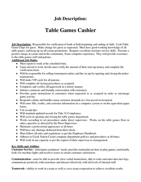 professional resumes cashier duties recentresumes