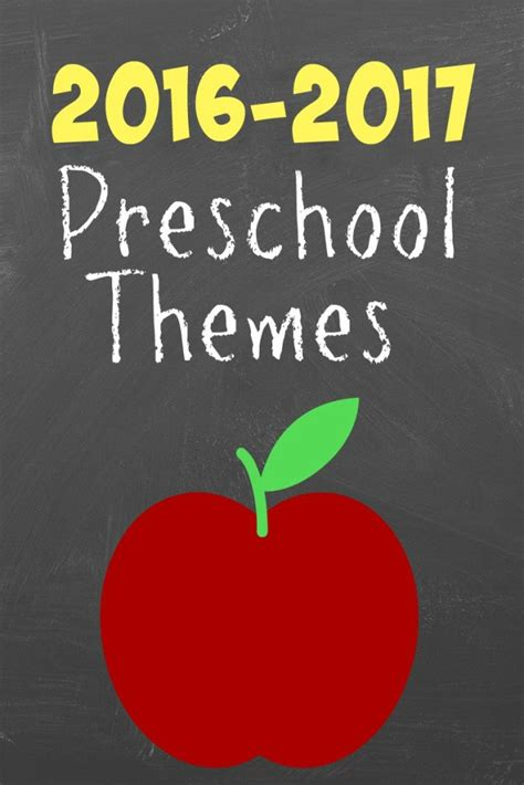 weekly themes for preschool 2016 2017 weekly preschool themes 244
