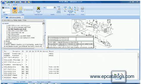 volvo prosis 2011 equipment spare parts catalog