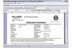 pressure gauge calibration certificate template - 5080 cal software