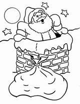 Chimney Santa Drawing Tree Printables Sewing Line Drawings Colouring Sip Paint sketch template