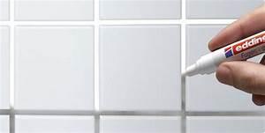 Fugen Streichen Bad : verschmutzte fugen in bad oder k che ausbessern edding 8200 fugenmarker k chenr ckwand ~ Markanthonyermac.com Haus und Dekorationen