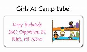 girls at camp address labels by amy adele With camp address labels