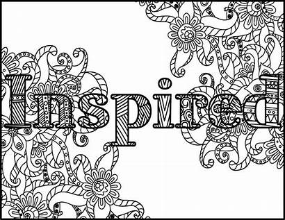 Coloring Positive Adult Printable Adults Inspired Message