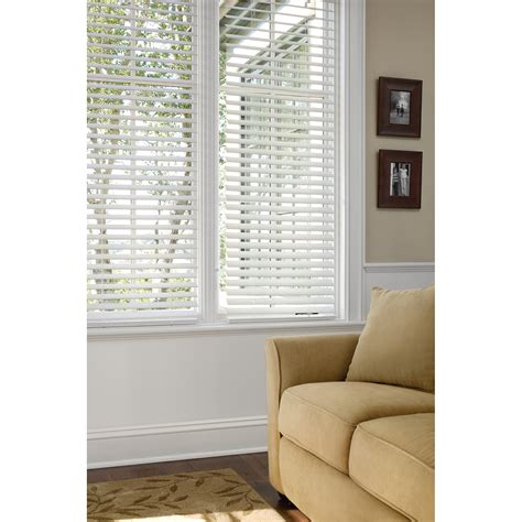 Windows And Blinds by Faux Horizontal Window Wood Blinds Home Furniture