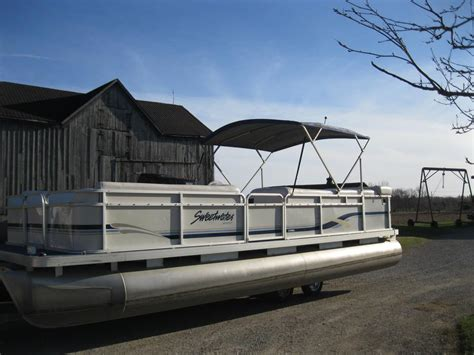 Used Pontoon Boats Kenora by 2000 Sweetwater 2423 Pontoon Boat W 50 Hp Honda Seats 12