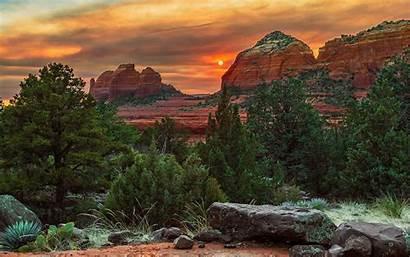 Arizona Sedona Wallpapers Usa Desert Ultra Sunset
