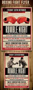 vintage boxing flyer template on behance With boxing poster template free