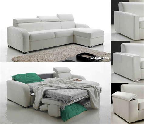discount canapé lit canapé d 39 angle réversible et convertible lit 160 cm promo