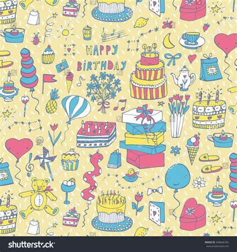 happy birthday pattern stock vector 349646765