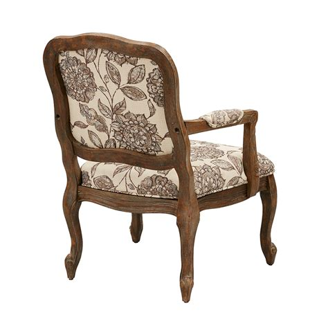 park camel back exposed wood chair