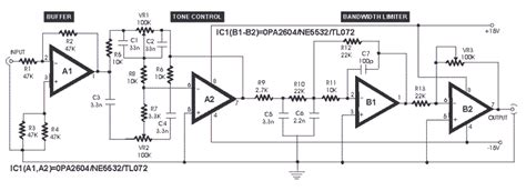 Low Distortion Audio Pre Amplifier Circuits Projects