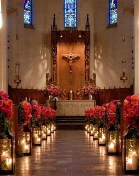 decoations for churchr elegant church wedding decoration