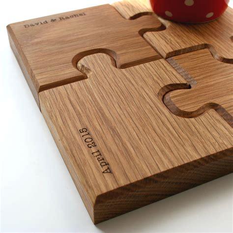 personalised chunky jigsaw coasters  trivet  wood