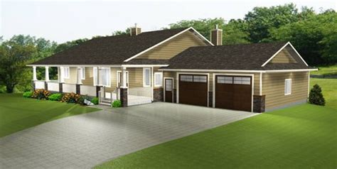 HOUSE PLAN 2011545 TRENDY RANCH STYLE BUNGALOW by