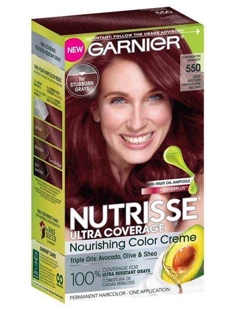 nutrisse ultra coverage medium red hair color garnier