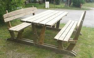 Table Banc Jardin by Table De Jardin Ronde En Bois Avec Banc Jsscene Com
