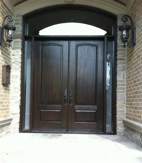 Wood Front Door With Door by Arched Exterior Doors Exterior Door Woodgrain