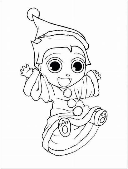 Coloring Pages Christmas Elf Shelf Santa Printable