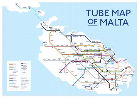 tube map  malta jonn galea malta gozo