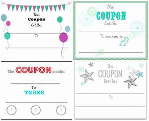 make your own christmas coupons free printables home With coupon making template