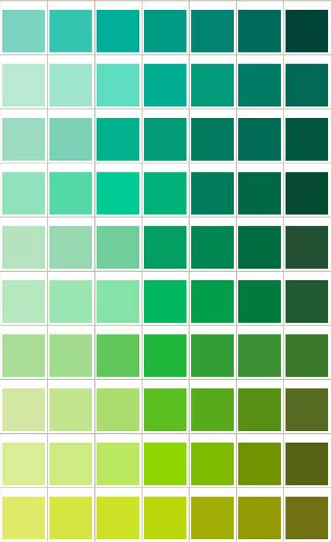 general printing color chart