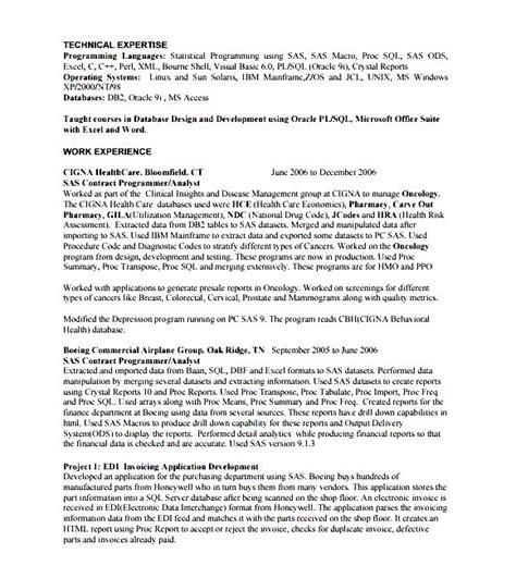Computer Programmer Resume by Computer Programmer Resume Sle Free Sles