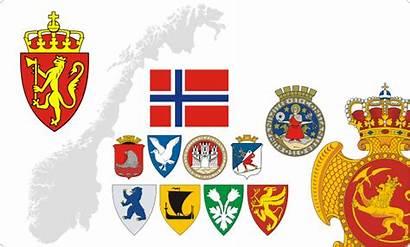 Norway Arms Norwegian Heraldry Flags Coats Clipart