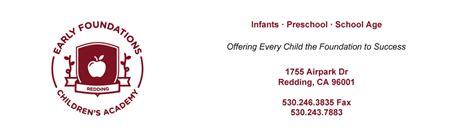 redding ca preschool early foundations children s academy redding ca infant 546
