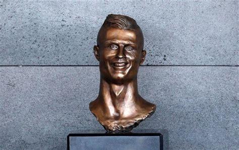 cristiano ronaldo news hideous cr statue  portugal