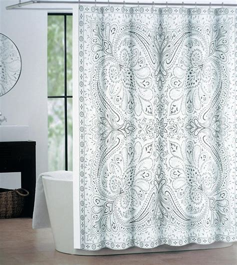 blue grey shower curtain grey and blue paisley shower curtain curtain menzilperde net 4818