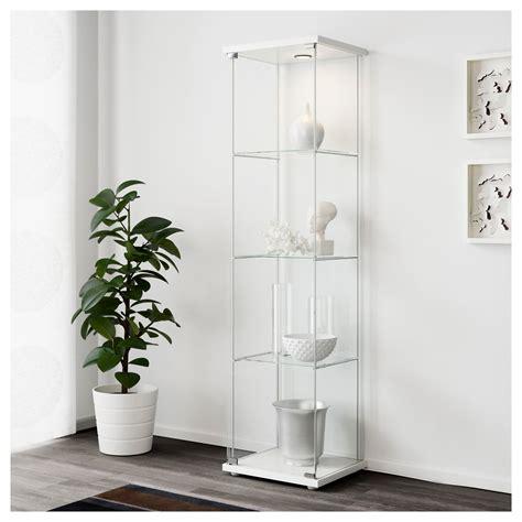 detolf glass door cabinet detolf glass door cabinet white 43x163 cm ikea